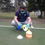Graziano Maraula impegnato nelle operazioni di sanificazione
